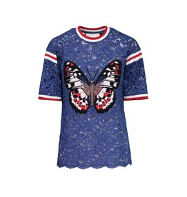 Gucci N/A - Gucci Appliqué with Embroidered Butterfly T-Shirt