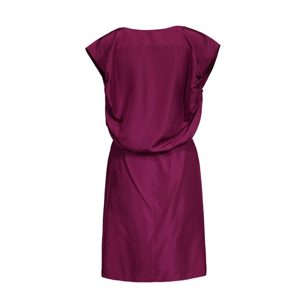Yves Saint-Laurent Yves Saint Laurent Silk Dress with Gathered Sleeves
