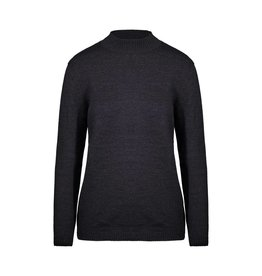 Miu Miu N/A - Miu Miu Charcoal Mock Neck Long Sweater