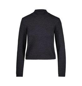 Miu Miu N/A - Miu Miu Charcoal Mock Neck Short Sweater