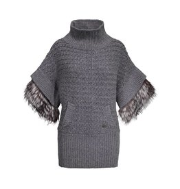 Roberto Cavalli Roberto Cavalli Grey Wool Poncho