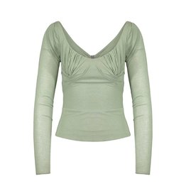 Stella McCartney Stella McCartney Green Drop Shoulder Top