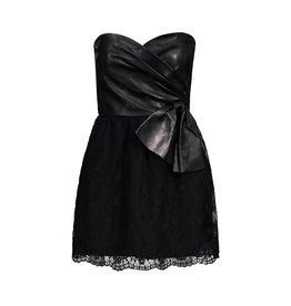 Valentino N/A - Valentino Black Leather Tube Dress