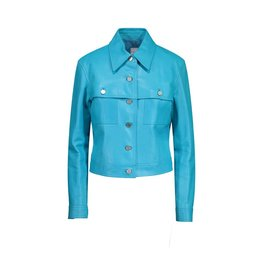 Céline Céline Turquoise Leather Jacket