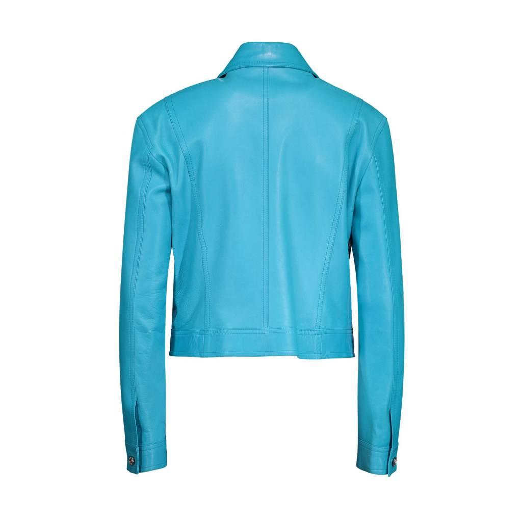 Céline Céline Turquoise Leather Jacket
