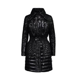 Moncler N/A - Moncler Black Quilted Knee Lenght Coat