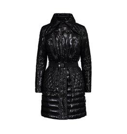 Moncler NON DISPONIBLE - Moncler manteau noir lustré en duvet