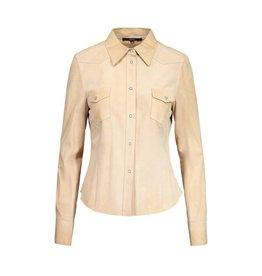Gucci Gucci chemise beige en suède brossé