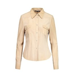 Gucci Gucci Light Tan Suede Shirt