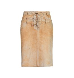 Roberto Cavalli Roberto Cavalli Suede Skirt with Laces