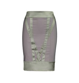 Stella McCartney Stella McCartney Silk Grey Skirt