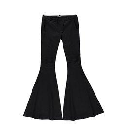 Balmain N/A - Balmain Wide Leg Biker Effect Trousers
