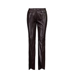 John Galliano John Galliano Chocolate Leather Pants