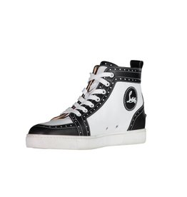Christian Louboutin Christian Louboutin Louis Flat White and Black Leather High Top