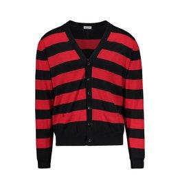 Saint Laurent Paris Saint-Laurent Paris Black and Red Striped Cardigan