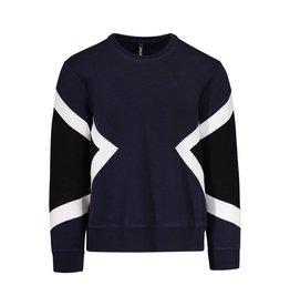 Neil Barrett Neil Barrett sweat-shirt néoprène moderne bleu marine
