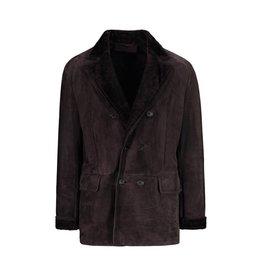 Valentino Valentino manteau en suède brun