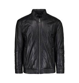 Versace Versace Collection blouson motard en cuir noir