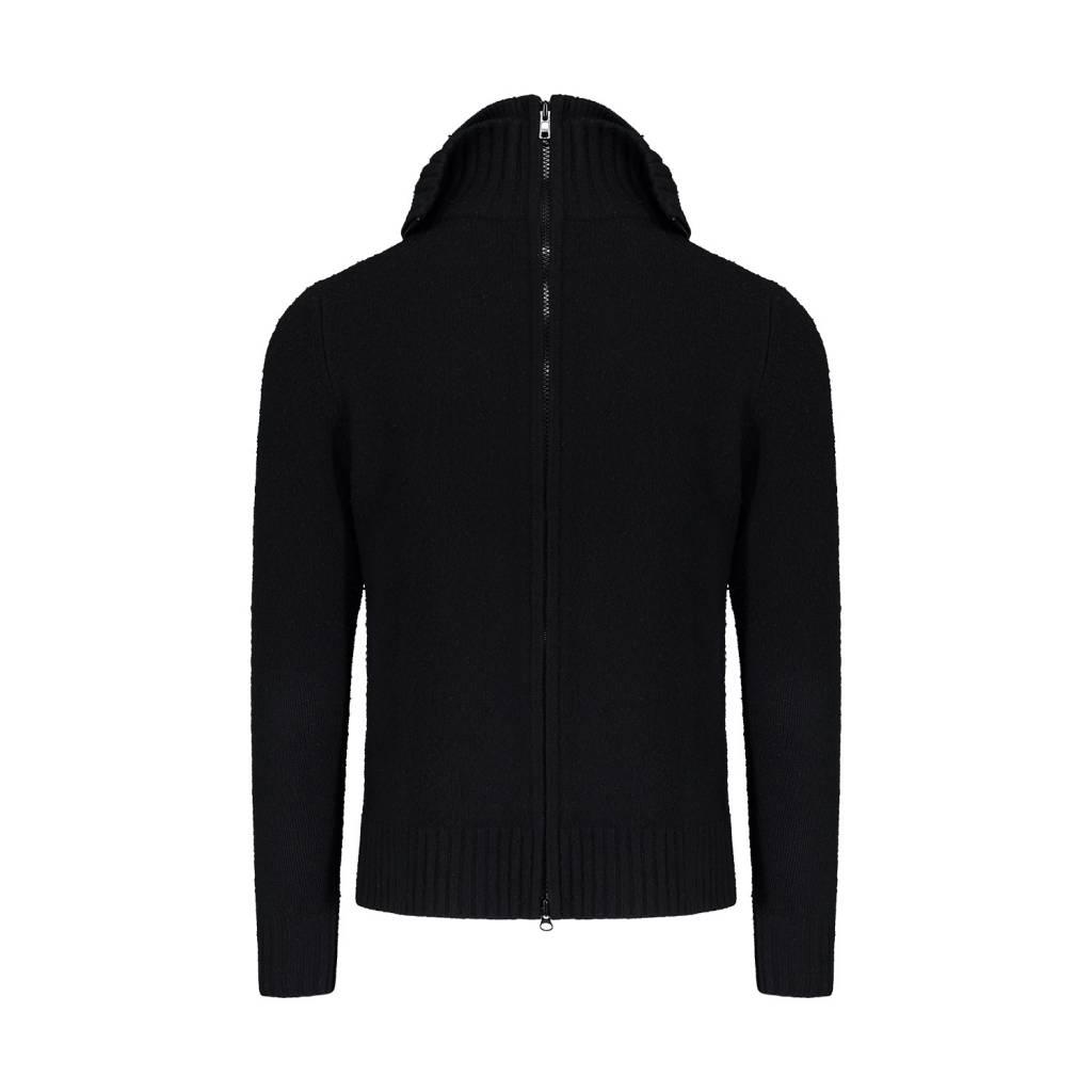 87209bc4dab Givenchy pull noir en laine à double collet - Boutique LUC.S