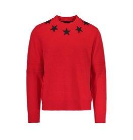 Givenchy Givenchy  pull rouge avec appliqués d'étoiles au collet