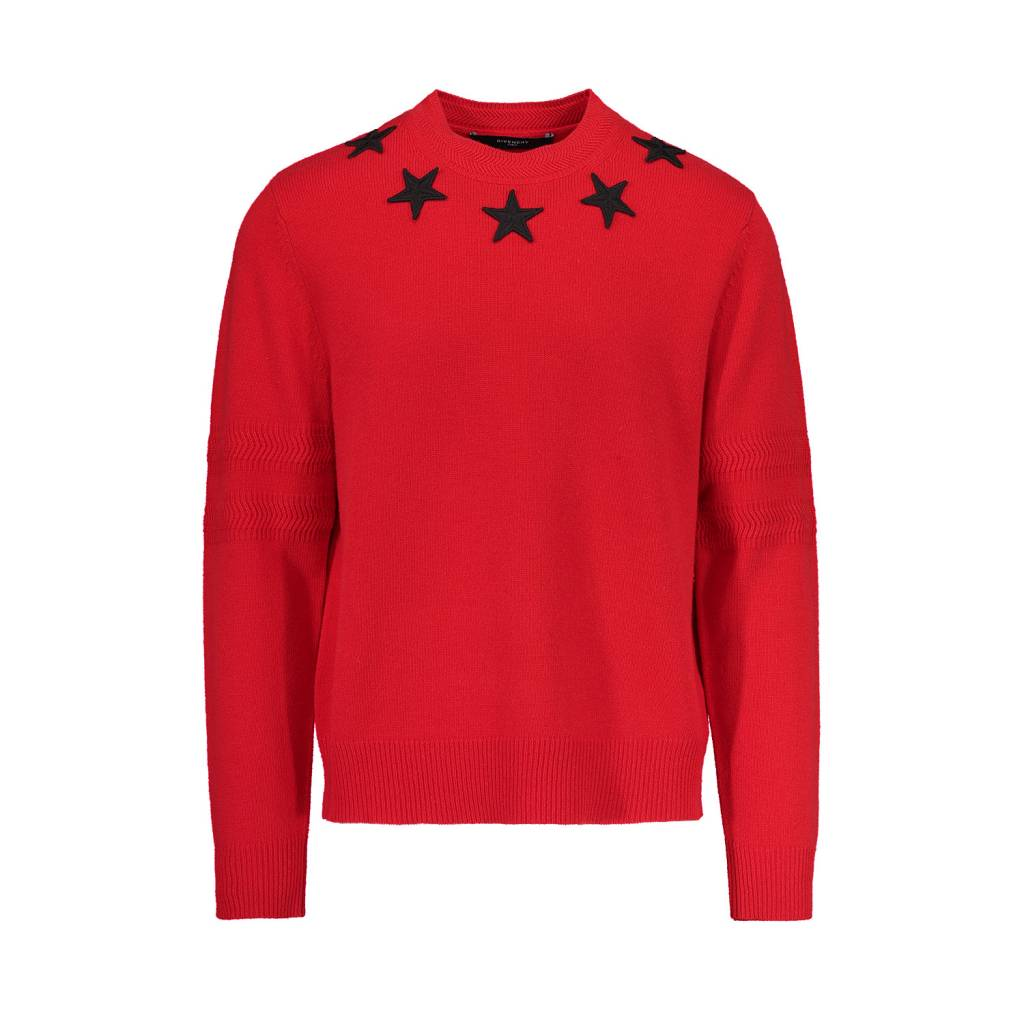 47bd3404f8d9 Givenchy Crewneck Sweater with Stars Appliqué - Boutique LUC.S