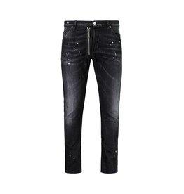 Dsquared2 NON DISPONIBLE - Dsquared2 jeans noir à effet usé et d'éclaboussure de peinture