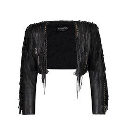 Balmain NON DISPONIBLE - Balmain veste en cuir raccourcie