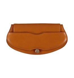 Elie Saab Elie Saab pochette en cuir de couleur tan