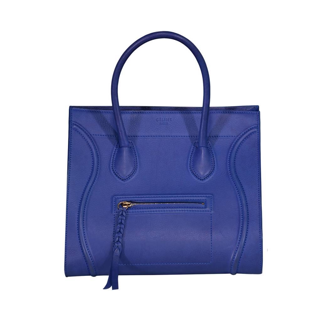 97b7b41cfc83 Céline Céline Medium Bluette Leather Phantom Bag Céline Céline Medium  Bluette Leather Phantom Bag ...