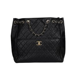 Chanel N/A - Chanel Black Matelasse Chain Shoulder Bag