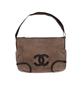 Chanel N/A - Chanel Brown Shearling and Fur Shoulder Bag