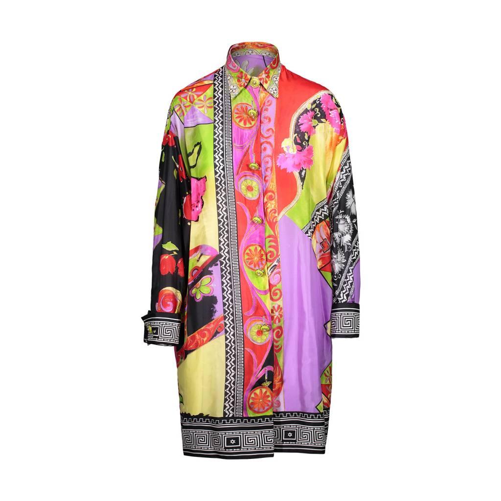 Versace NON DISPONIBLE - Gianni Versace chemise en soie avec imprimé et  boutons dorés ... 70f5540b25a
