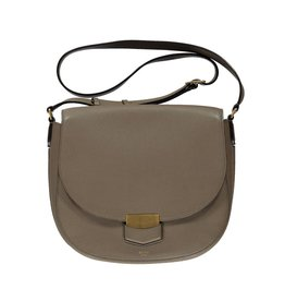 Céline N/A - Céline Taupe Medium Trotteur Shoulder Bag
