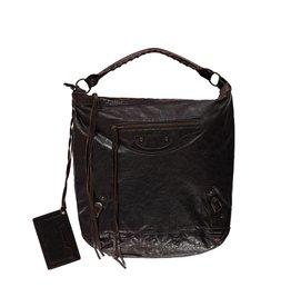 Balenciaga Balenciaga sac de jour à l'épaule en cuir brun