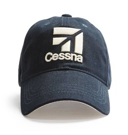 Red Canoe Cap Cessna Navy