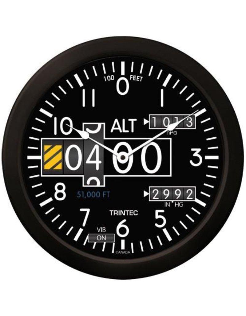 Trintec Modern Altimeter Clock 14 inch 2060-14