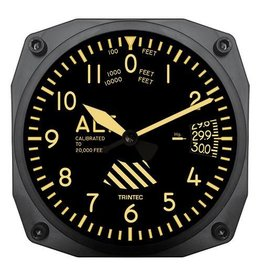 Trintec Vintage Altimeter Clock 6 inch 9060V