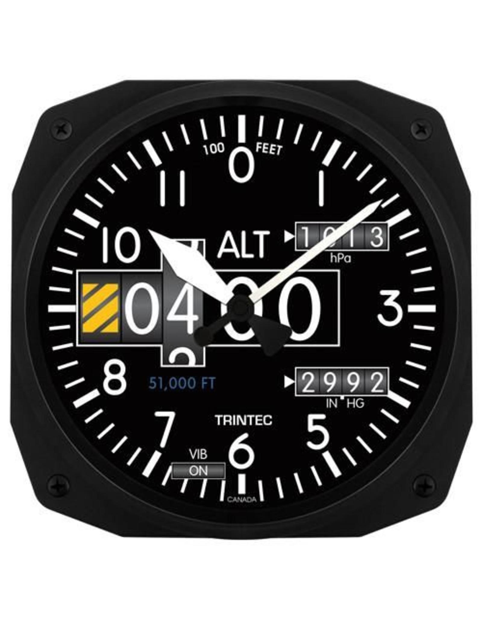 Trintec Modern Altimeter Clock 10 inch 3020-10