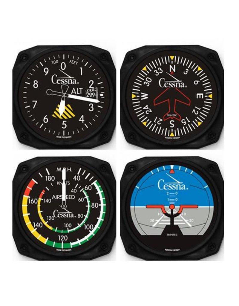 Trintec Cessna Instrument Coasters 4-pack CES-9075