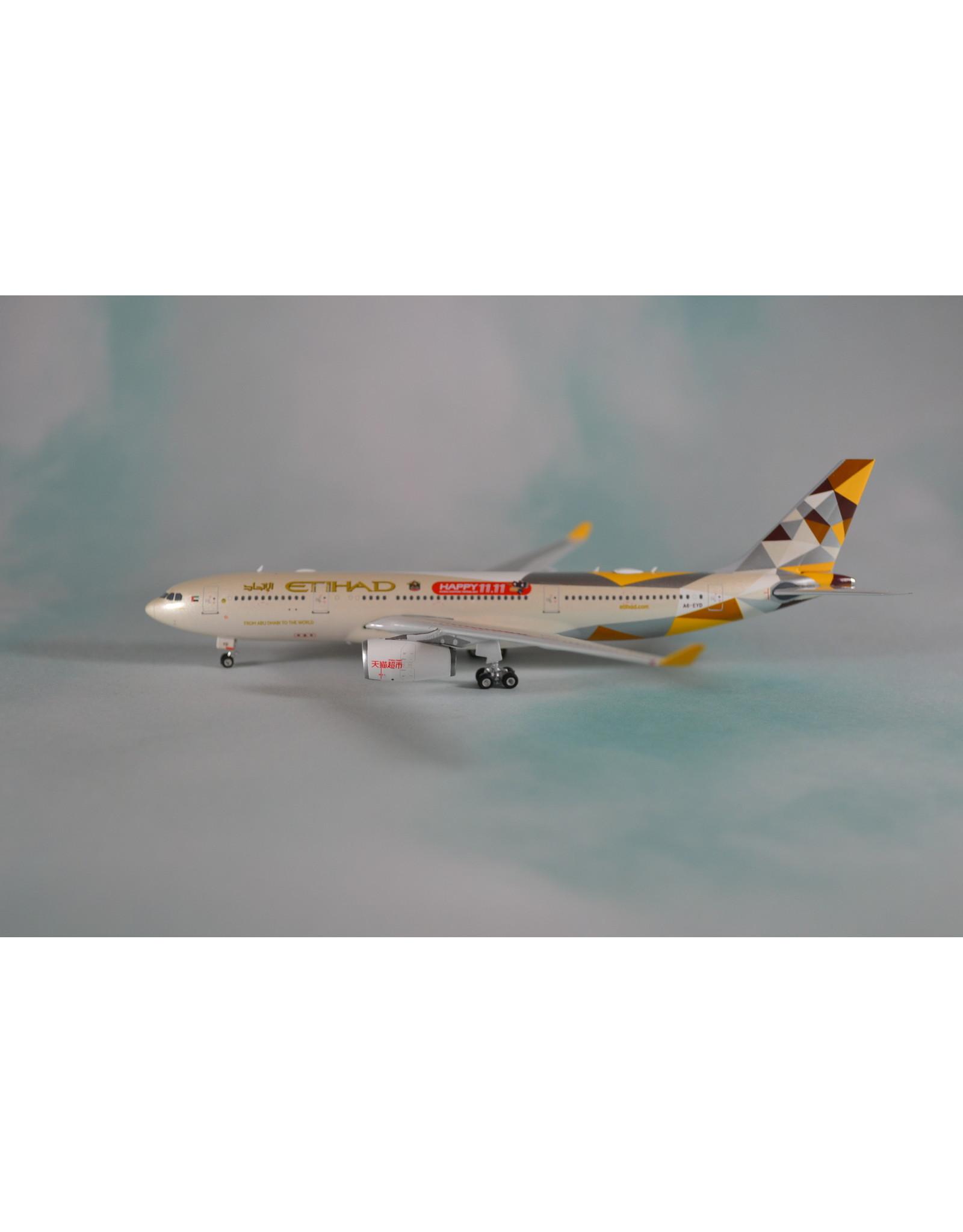 PH4 Etihad A330-200 Happy 11.11, A6-EYD