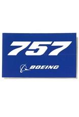 Sticker 757 rectangle