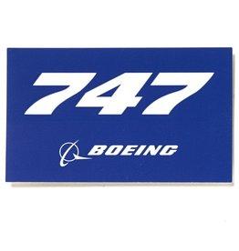 Sticker 747 rectangle