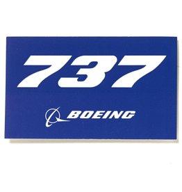 Sticker 737 rectangle