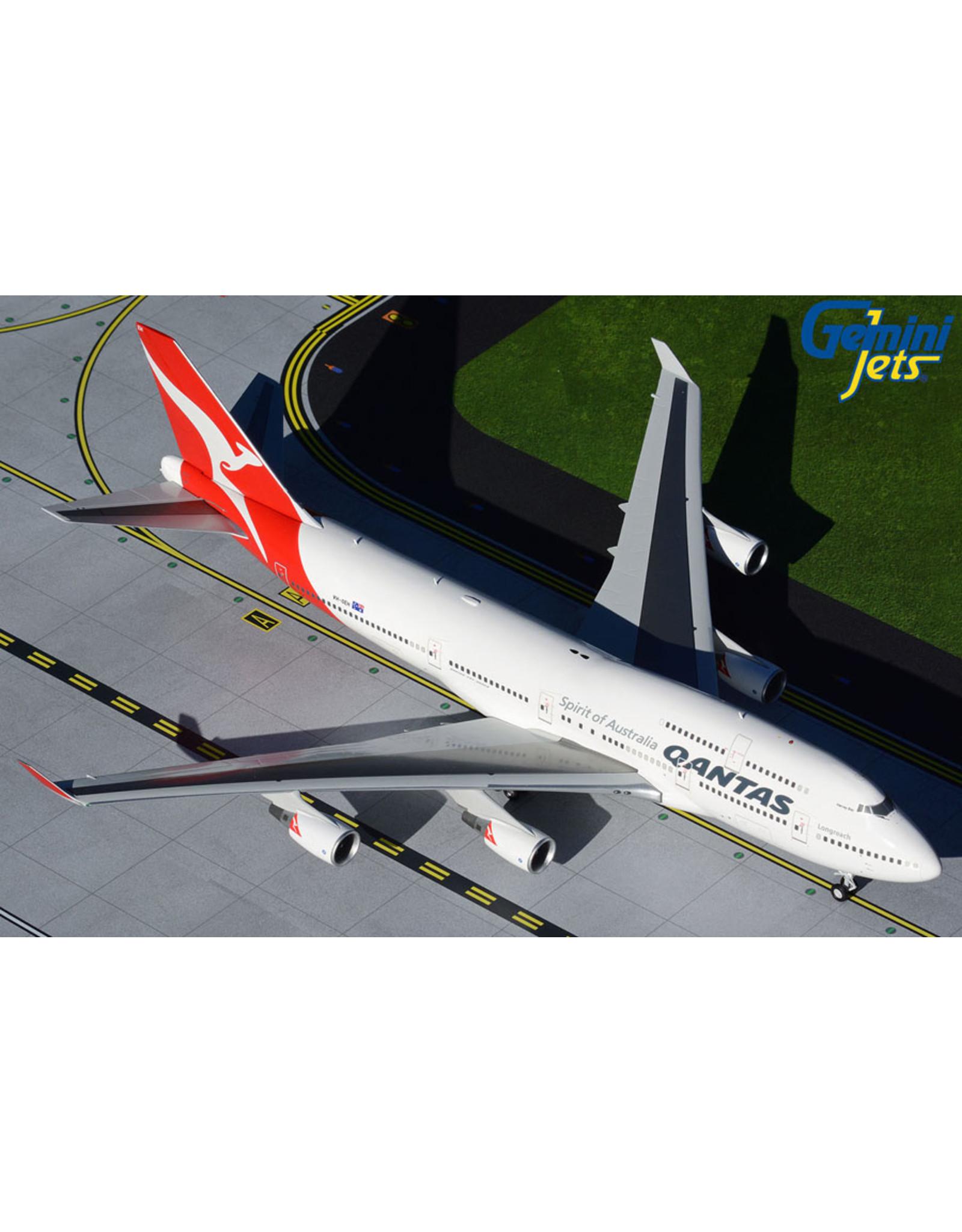Gemini Gem2 Qantas 747-400ER Hervey Bay VH-OEH