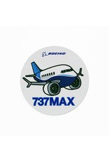 Boeing Sticker 737max Pudgy