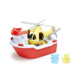 Green Toys GT Rescue Boat & Helicopter