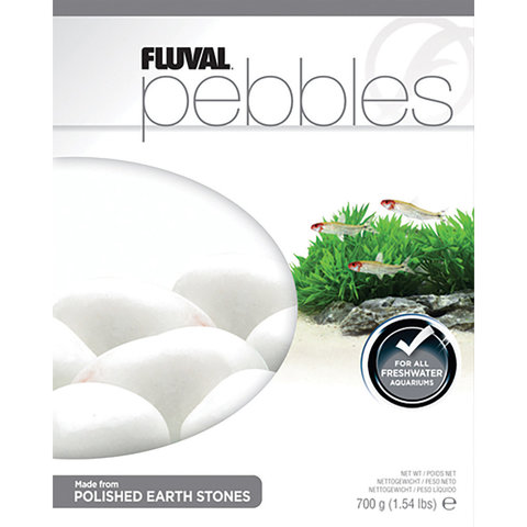 Fluval Pebbles - Polished Ivory Stones - 40-50 mm - 700 g (1.54 lb)