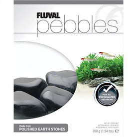Fluval Fluval Pebbles - Polished Black Agate Stones - 40-50 mm - 700 g (1.54 lb)