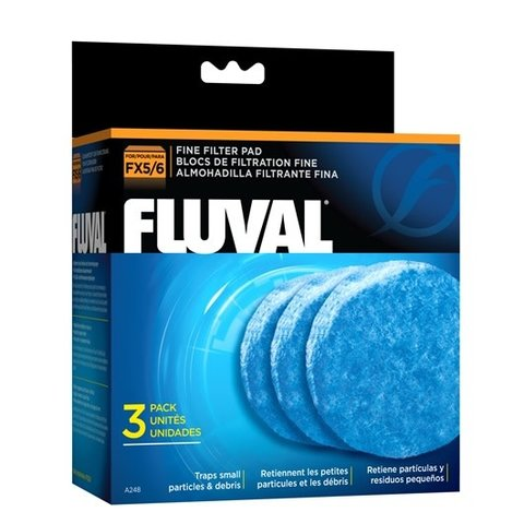 Fluval Fine Filter Pads, 3-pack
