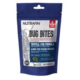 Nutrafin Bug Bites Tropical Formula – Medium to Large Fish - 1.4-2.0 mm granules – 125 g (4.4 oz)